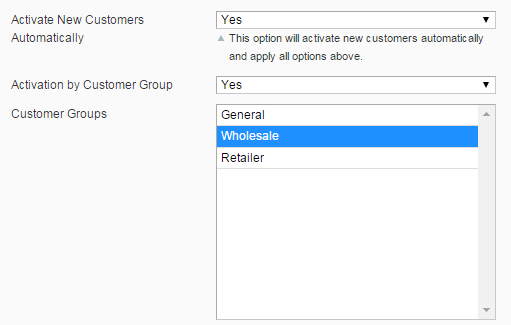 Auto approve for specific customer group
